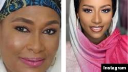 Marigayiya Haj. Zainab Booth, hagu da 'yarta Maryam Booth, dama (Instagram/ Ali Nuhu/Maryam Booth)