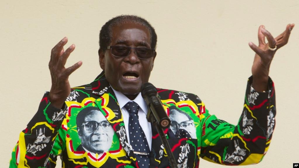 Robert Mugabe lors d'un discours à Harare, le 17 décembre 2016