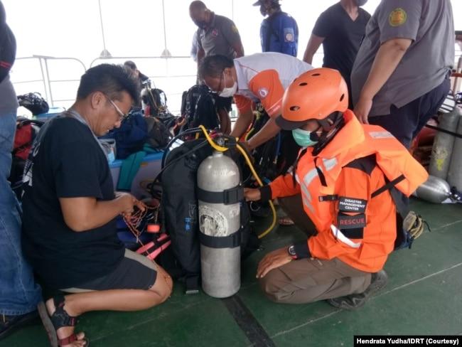 Persiapan evakuasi korban pesawat Sriwijaya Air. (Foto: Courtesy)