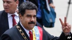Tổng thống Venezuela tại cuộc diễu hành kỷ niệm Ngày Độc lập của quốc gia này ở Caracas, ngày 5/7/16.