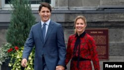 Prime Minister Justin Trudeau and his wife Sophie Gregoire Trudeau