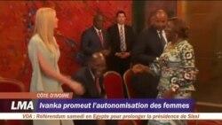 Ivanka Trump promeut l'autonomisation des femmes