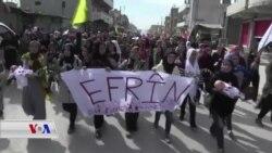 Xwepêşandana Piştgirîya Efrînê li Qamişlo