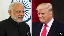 印度总理莫迪(左图),美国总统川普