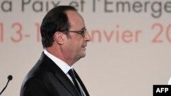 Le président français François Hollande, 14 janvier 2017.