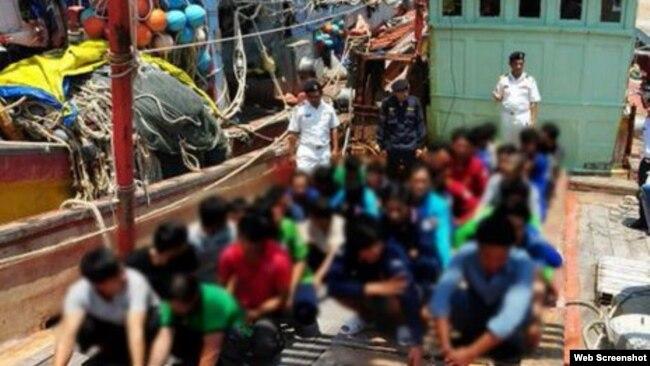 Các ngư dân Việt Nam bị Malaysia bắt giữ trong các cuộc tuần tra ngày 10/3 và 11/3. (Ảnh: NST). Ảnh chụp màn hình trang web vnexpress.net