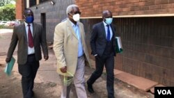 Former Cabinet Minister Ignatius Chombo on his way to court Wednesday, February 24, 2021, Harare. (VOA)