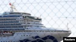 停泊在日本横滨港的钻石公主号邮轮(2020年2月11日)