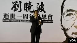 香港支聯會主席何俊仁。(美國之音特約記者 湯惠芸拍攝 )