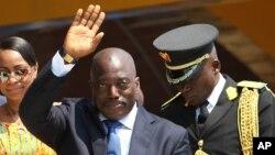 Le président Joseph Kabila de la RDC à Kindu, 30 juin 2016.