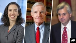 Alkalan Kotun Daukaka Kara Judge William Canby - Judge Richard Clifton - Judge Michelle Friedland da suka haramta dokar Trump