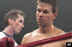 Left to right: Christian Bale plays Dicky Eklund and Mark Wahlberg plays Micky Ward in THE FIGHTER.