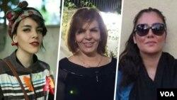 از راست: مژگان کشاورز، منیره عربشاهی و دختر او یاسمن آریانی