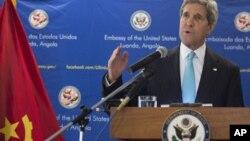 Пресс-конференция Джона Керри в Луанде