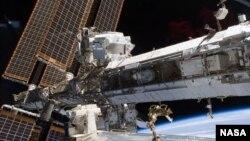 El espectómetro magnético está acoplado a la Estación Espacial Internacional.