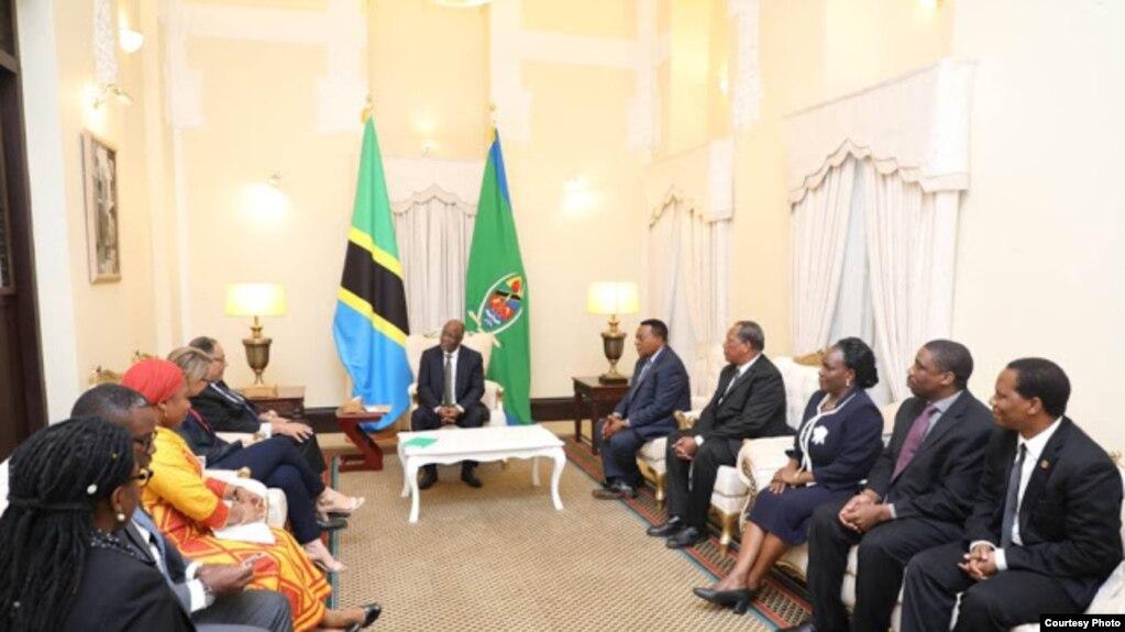 Rais John Magufuli alipokutana na ujumbe wa Benki ya Dunia nchini Tanzania.