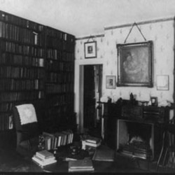 Emerson's study room at his home in Concord, Massachusetts