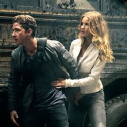 """Shia LaBeouf plays Sam Witwicky, left, and Rosie Huntington-Whiteley plays Carly Miller in a scene from """"Transformers: Dark of the Moon"""""""