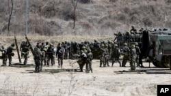 南韓軍隊亦演練防範北韓襲擊