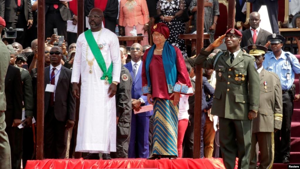 """Résultat de recherche d'images pour """"new Monrovia city, George Weah, president of Liberia, 2018"""""""
