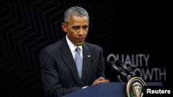 奥巴马总统2016年11月20日在APEC秘鲁峰会结束之际举行记者会(资料照)