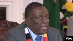 President Mnangagwa is in Russia as part of a five-nation visit, which ends after he attends the World Economic Forum in Davos, Switzerland later this month. (C Mavhunga/VOA)