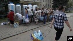 Донецьк. Черга за водою
