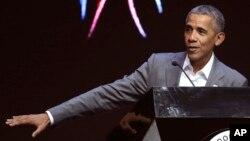 L'ancien président américain Barack Obama, 1er juillet 2017.