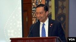Kepala BKPM Thomas Lembong dalam sebuah acara mengenai investasi di Washington, DC. (Foto: Dok)