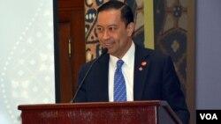 Menteri Perdagangan Thomas Lembong dalam KTT Investasi Amerika-Indonesia di Willard Hotel, Washington DC hari Senin, 26 Oktober 2015 (foto: BKPM).