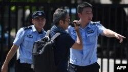 中國警察在執行任務資料照。