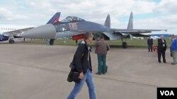 2013年莫斯科航展上展出的苏-35战机。