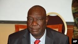 Michel Djotodia, chef de la coalition rebelle Séléka, devenu officiellement président de la Centrafrique par acclamation du CNT le 13 avril 2013