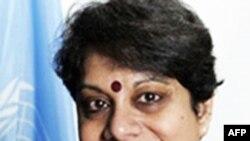 Bà Radhika Coomaraswamy, đại diện đặc biệt Liên Hiệp Quốc về vấn đề trẻ em và tranh chấp vũ trang