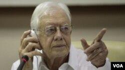 Ansyen prezidan Jimmy Carter (AP Photo/Franklin Reyes, foto achiv)