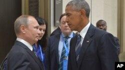 Владимир Путин и Барак Обама. Китай. 5 сентября 2016 г.