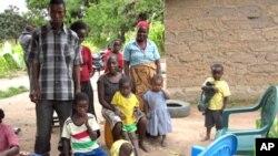 Família de refugiados angolanos no Huambo