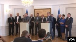 Politički predstavnici Albanaca iz opština Preševo Medveđa i Bujanovac sa predsednikom Kosova Hašimom Tačijem