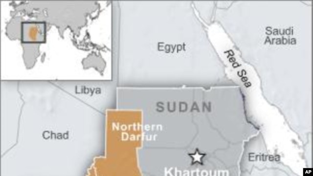 map of Darfur