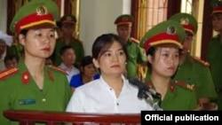 Bà Trần Thị Nga tại phiên tòa ở tỉnh Hà Nam, ngày 25 tháng 7, 2017. (Ảnh: VietnamNet)
