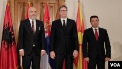 S leva: Edi Rama, Aleksandar Vučić i Zoran Zaev