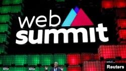 葡萄牙總統11月7日在葡萄牙首都里斯本舉行的世界網絡峰會的閉幕式上發表講話。