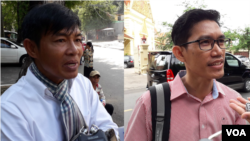 Uon Chhin (left) and Yeang Sothearin, former reporters for Radio Free Asia based in Phnom Penh, Cambodia