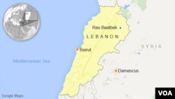 黎巴嫩位置圖