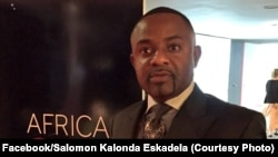 Salomon Idi Kalonda, mopesi toli ya Moïse Katumbi, ba bokutani ya Africa CEO Awards na Abidjan, Côte d'ivoire, 10 janvier 2016. (Facebook/Salomon Kalonda Eskadela)