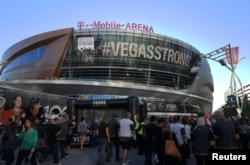 The T-Mobile Arena in Las Vegas, Oct. 10, 2017. (Kirby Lee/USA TODAY Sports)