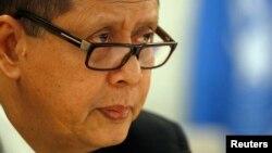 지난 2013년 스위스 제네바에서 열린 유엔 인권이사회에서 마르주키 다루스만 유엔 북한인권특별보고관이 발표하고 있다. (자료사진)