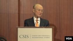 아마노 유키야 국제원자력기구(IAEA) 사무총장이 5일 워싱턴 전략국제문제연구소(CSIS)가 주최한 포럼에 참석했다.