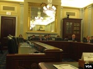 国会听证讨论中国人权(美国之音 杨晨拍摄)