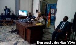 Issa Tchiroma annonce officiellement l'extradition vers le Cameroun de 47 sécessionnistes anglophones, Yaoundé, le 29 janvier 2018